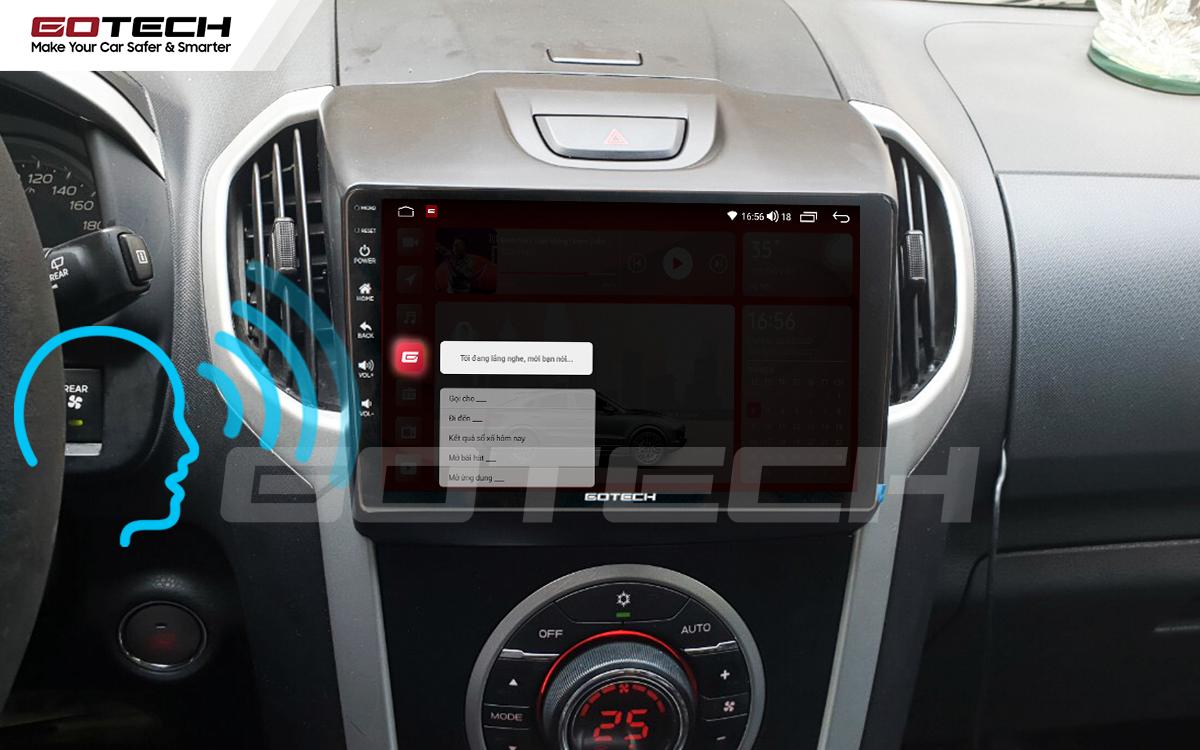 Điều khiển giọng nói qua vô lăng trên màn hình ô tô GOTECH cho xe Chevrolet Colorado 2015-2016