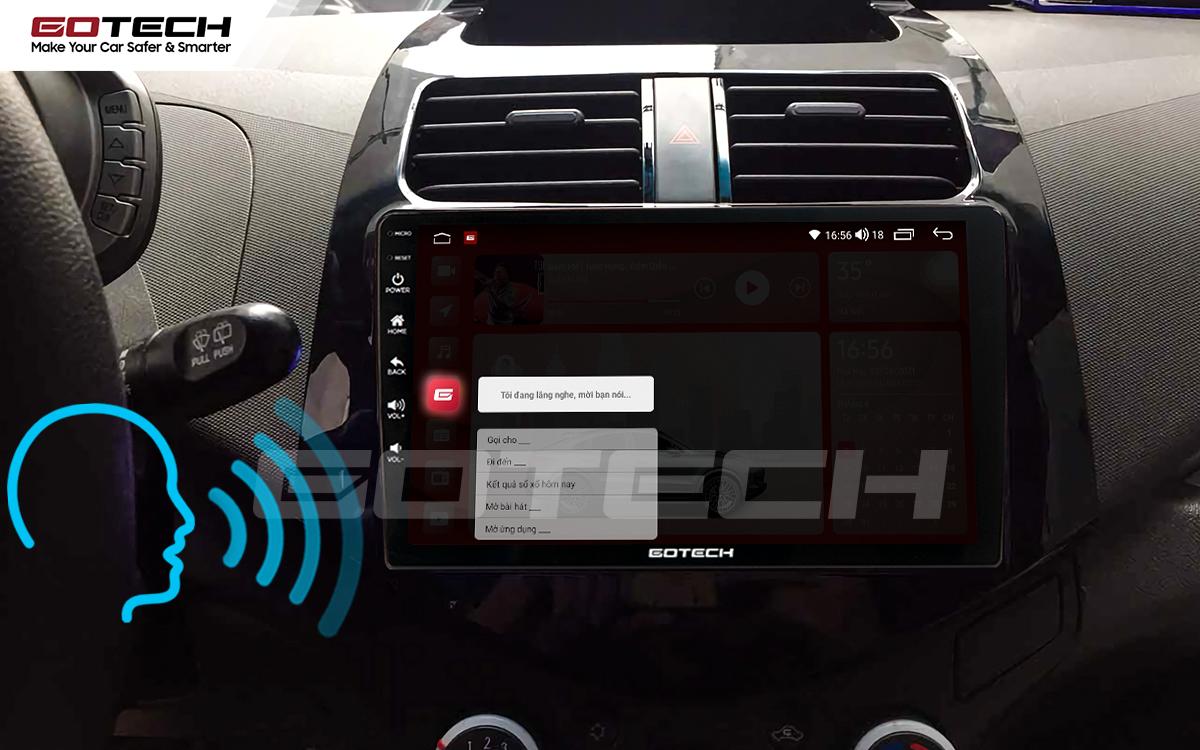 Điều khiển giọng nói qua vô lăng trên màn hình ô tô GOTECH cho xe Chevrolet Spark Matiz 2012-2016