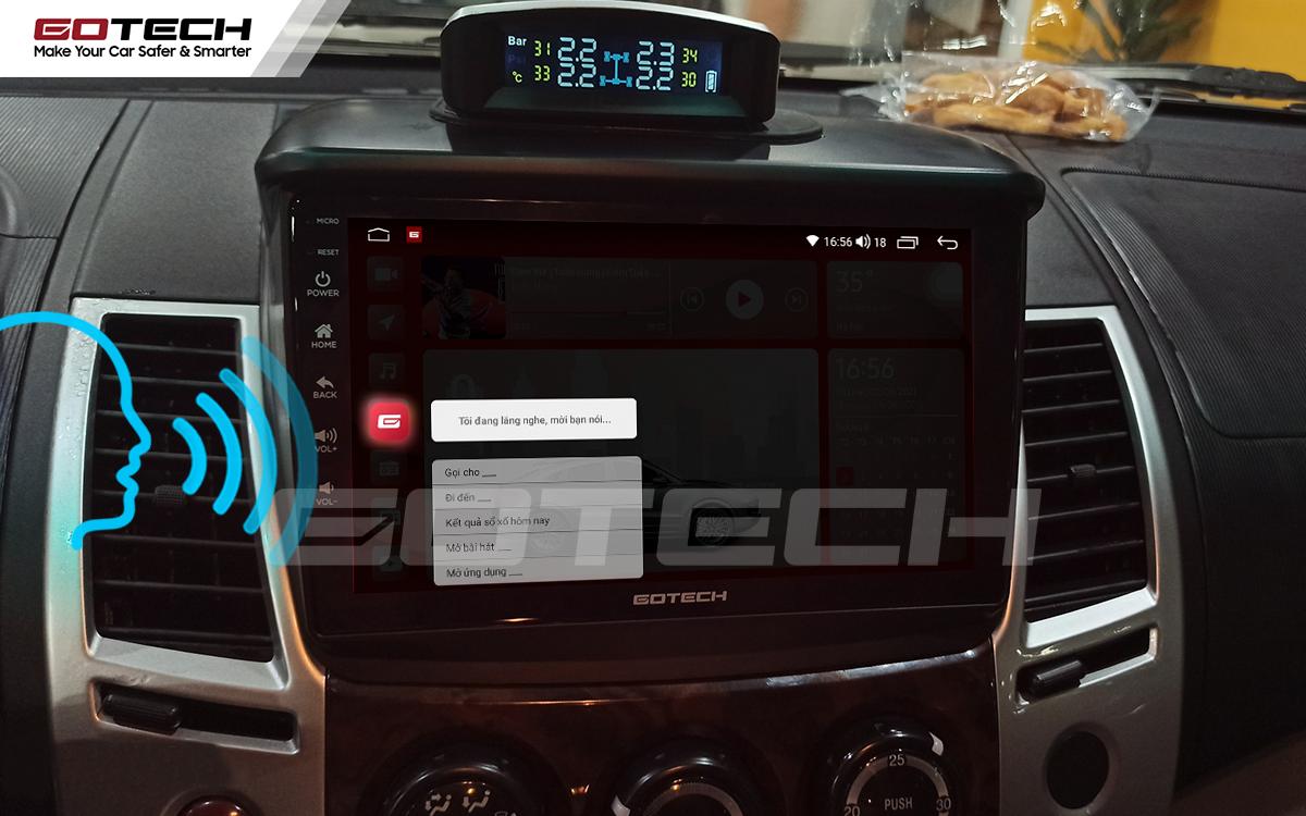 Điều khiển giọng nói thông minh trên màn hình ô tô Gotech hỗ trợ lái xe rảnh tay.