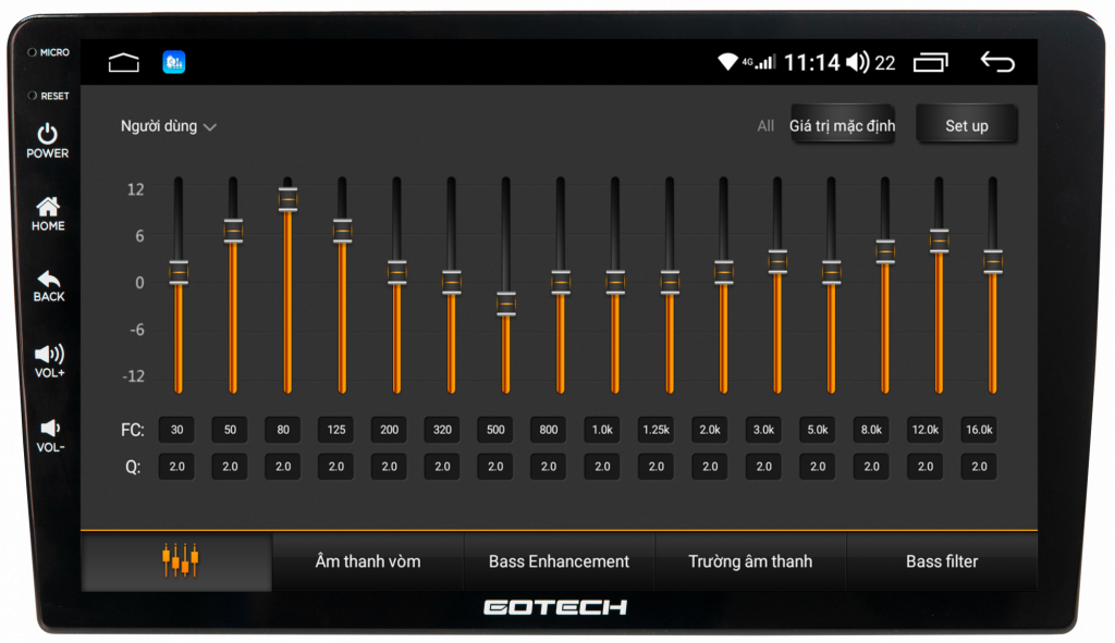 Màn hình Gotech GT8 Max trang bị DSP 32 kênh mang đến chất lượng âm thanh tuyệt hảo.