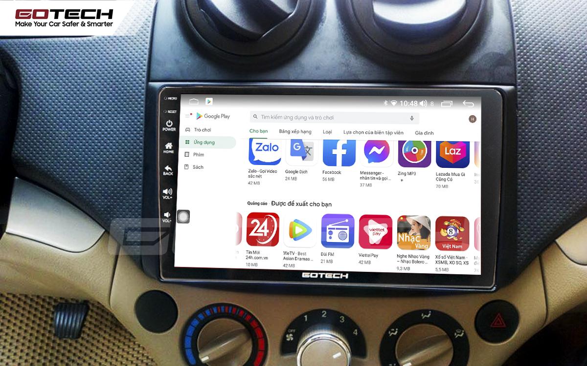 Giải trí đa phương tiện trên màn hình ô tô thông minh GOTECH cho xe Chevrolet Aveo 2011-2018
