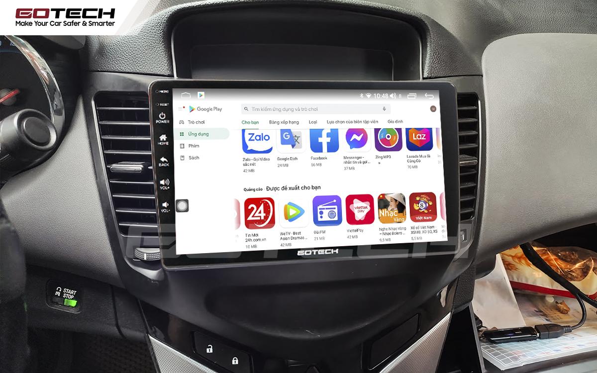 Giải trí đa phương tiện trên màn hình ô tô thông minh GOTECH cho xe Chevrolet Cruze 2009-2015