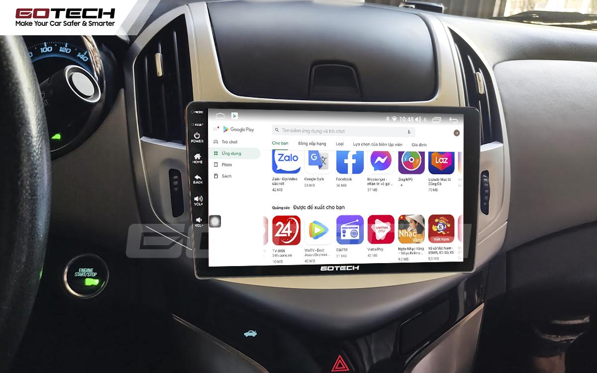 Giải trí đa phương tiện trên màn hình ô tô thông minh GOTECH cho xe Chevrolet Cruze 2017-2018