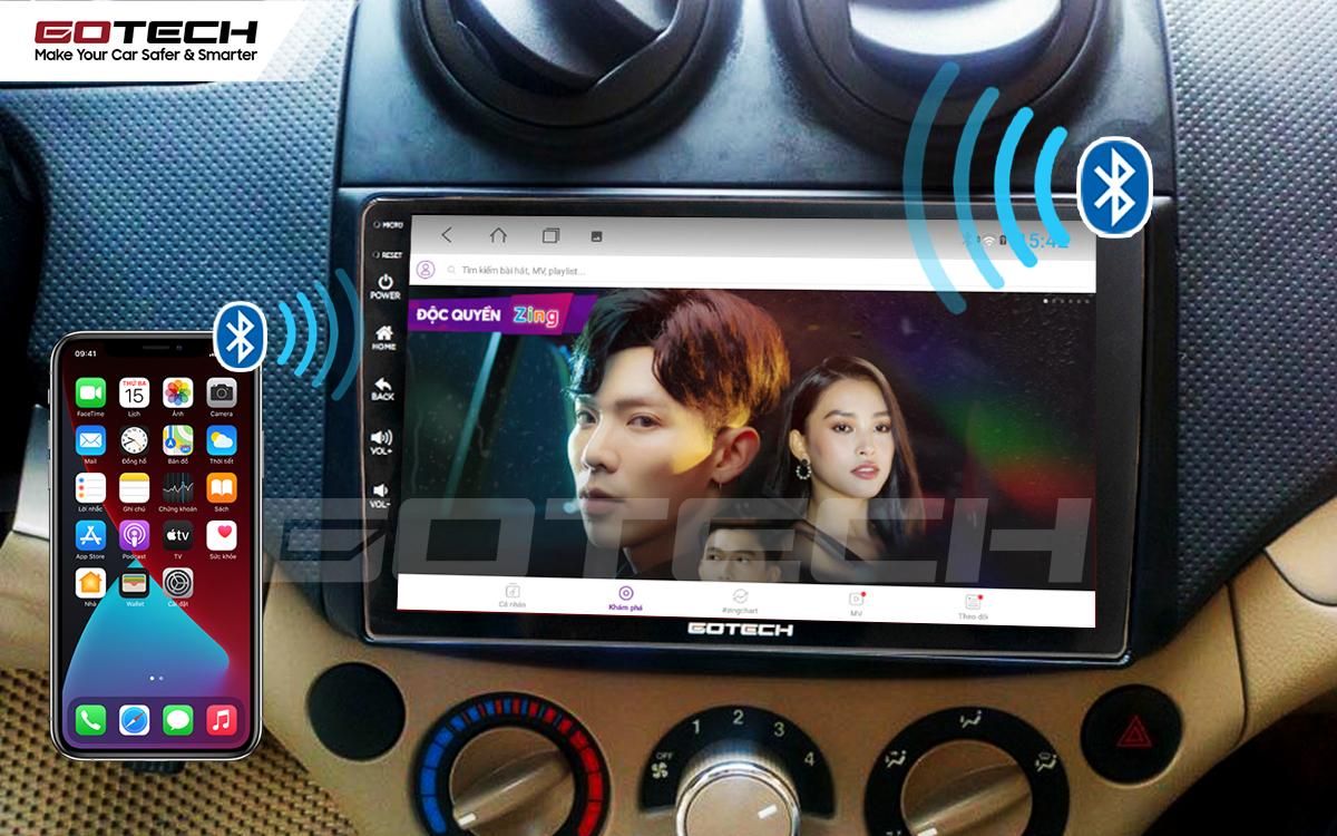 Kết nối Apple Carplay thông minh trên màn hình ô tô thông minh GOTECH cho xe Chevrolet Aveo 2011-2018