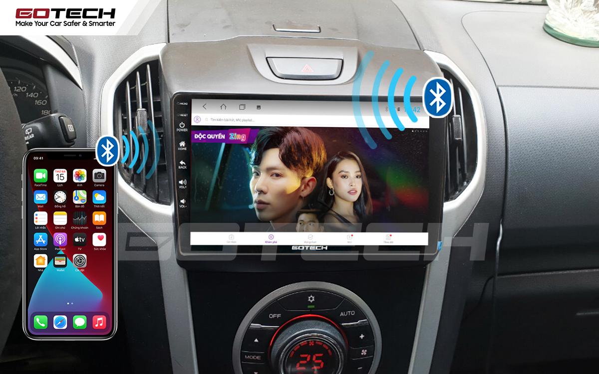Kết nối Apple Carplay thông minh trên màn hình ô tô thông minh GOTECH cho xe Chevrolet Colorado 2015-2016