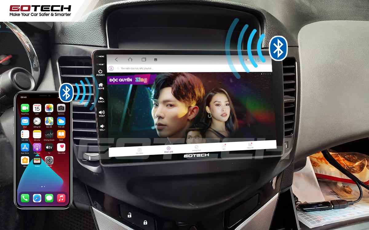 Kết nối Apple Carplay thông minh trên màn hình ô tô thông minh GOTECH cho xe Chevrolet Cruze 2009-2015