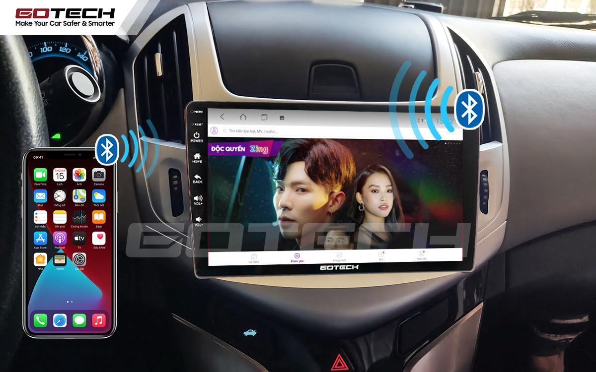Kết nối Apple Carplay thông minh trên màn hình ô tô thông minh GOTECH cho xe Chevrolet Cruze 2017-2018