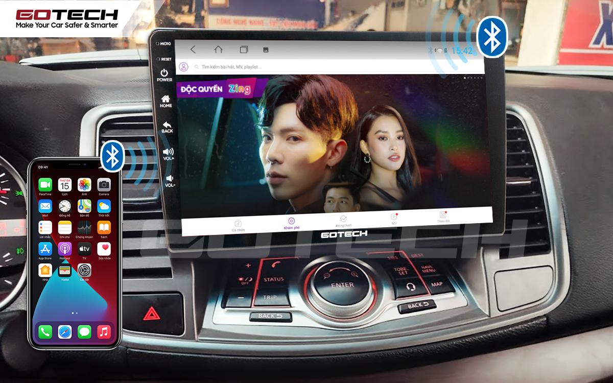 Kết nối Apple Carplay thông minh trên màn hình ô tô thông minh GOTECH cho xe Nissan Teana 2009-2011