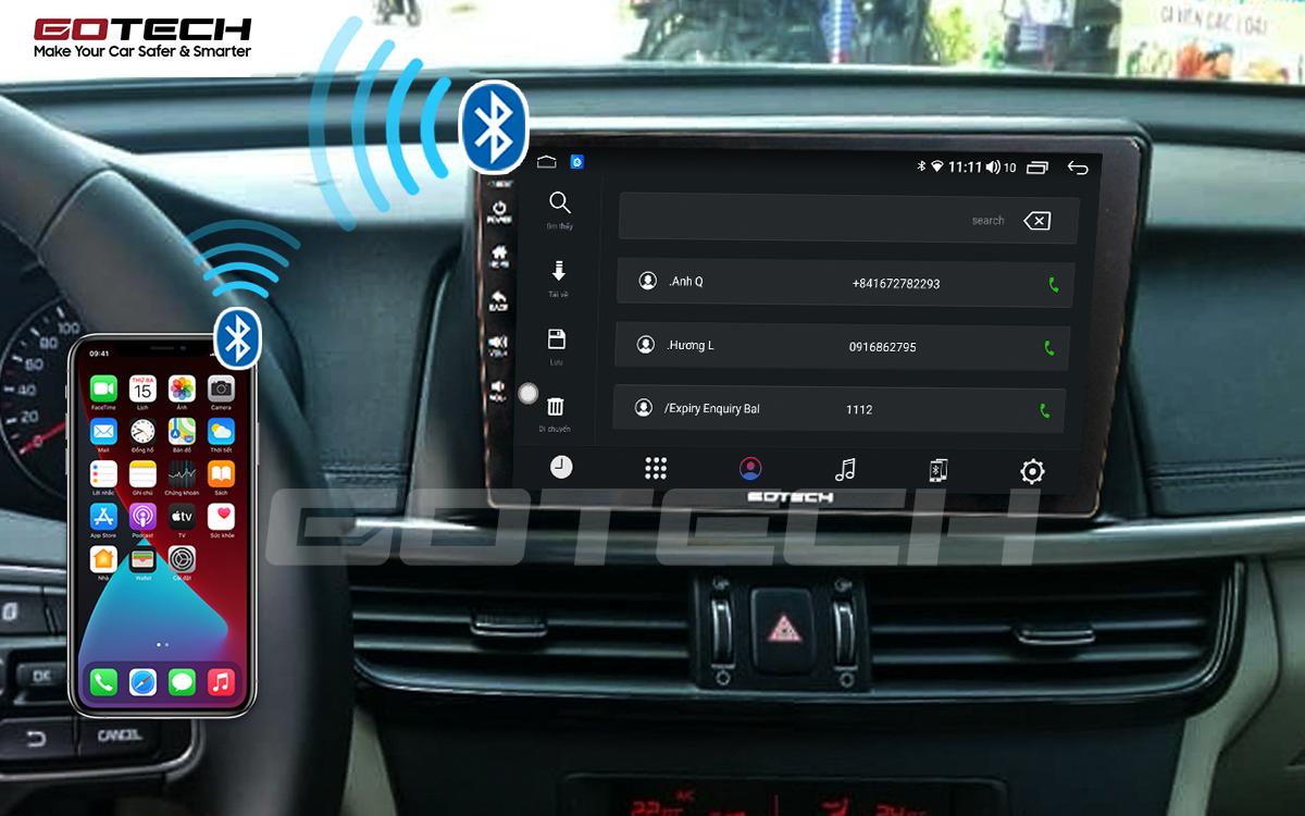 Kết nối Bluetooth trên màn hình ô tô GOTECH cho xe Kia K5 Optima 2017-2020