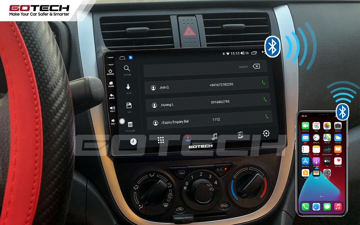 Kết nối Bluetooth trên màn hình ô tô GOTECH cho xe Suzuki Celerio 2018-2020