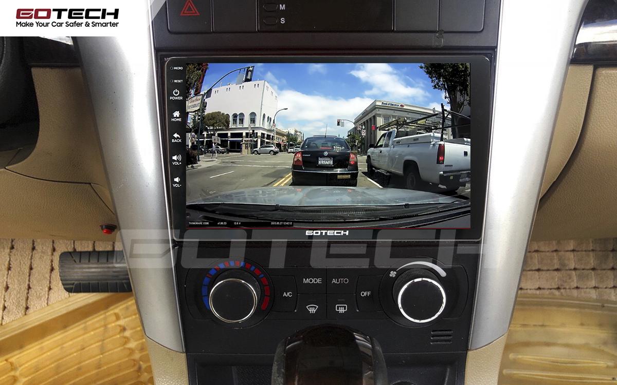 Kết nối với camera hành trình trên màn hình android GOTECH cho xe Chevrolet Captiva 2013-2015
