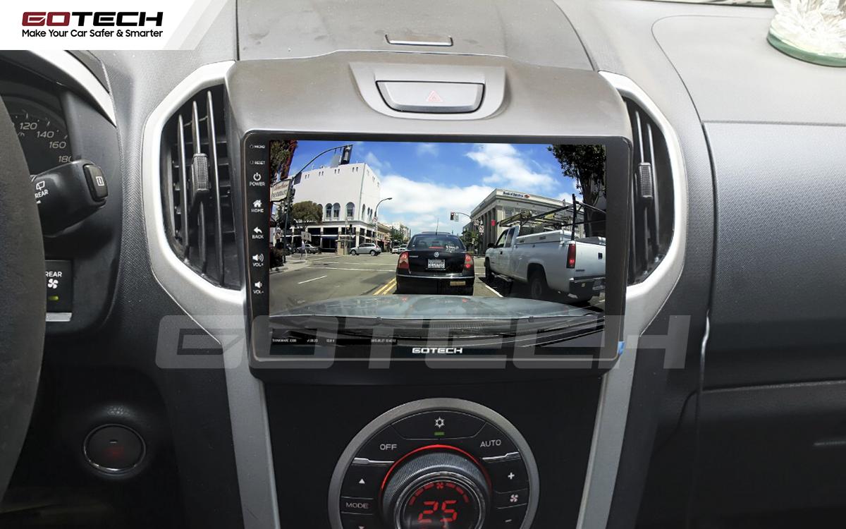 Kết nối với camera hành trình trên màn hình android GOTECH cho xe Chevrolet Colorado 2015-2016