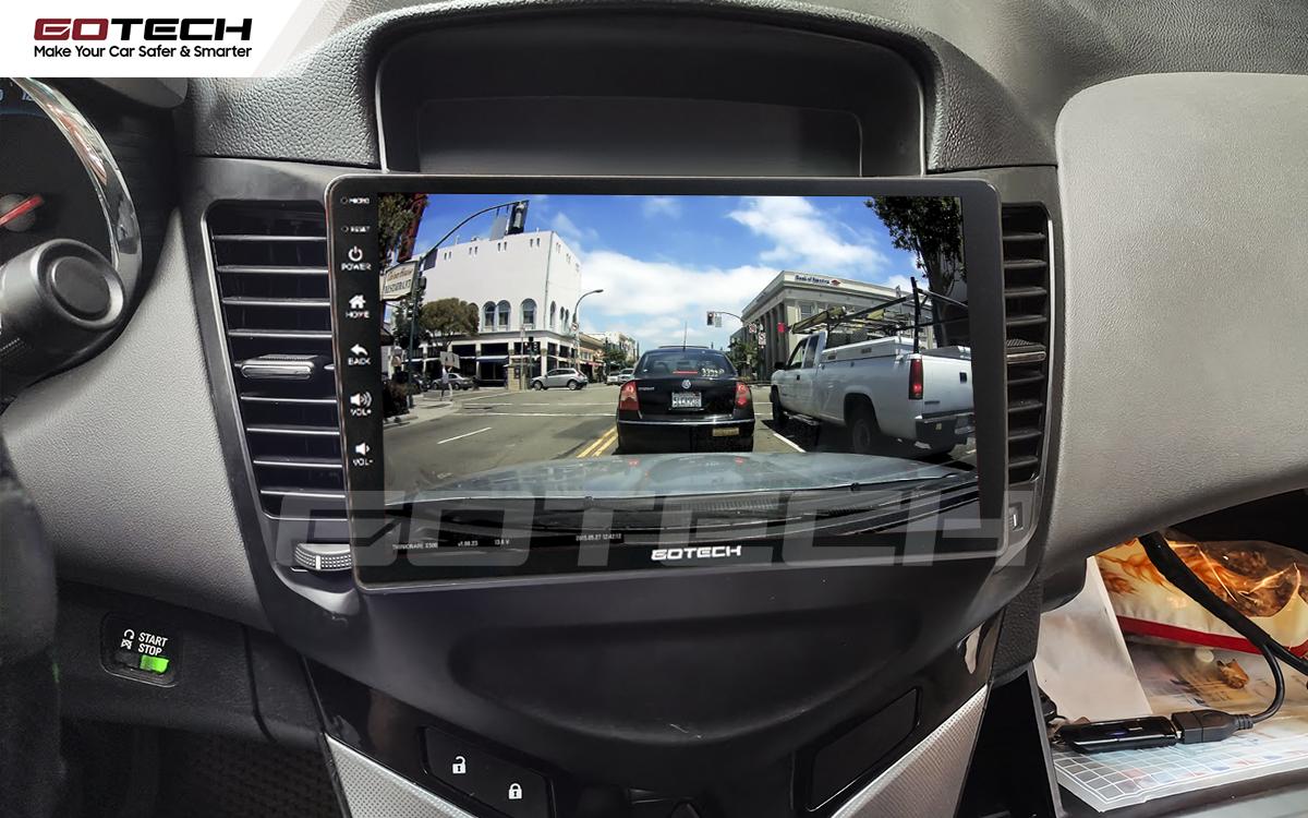 Kết nối với camera hành trình trên màn hình android GOTECH cho xe Chevrolet Cruze 2009-2015