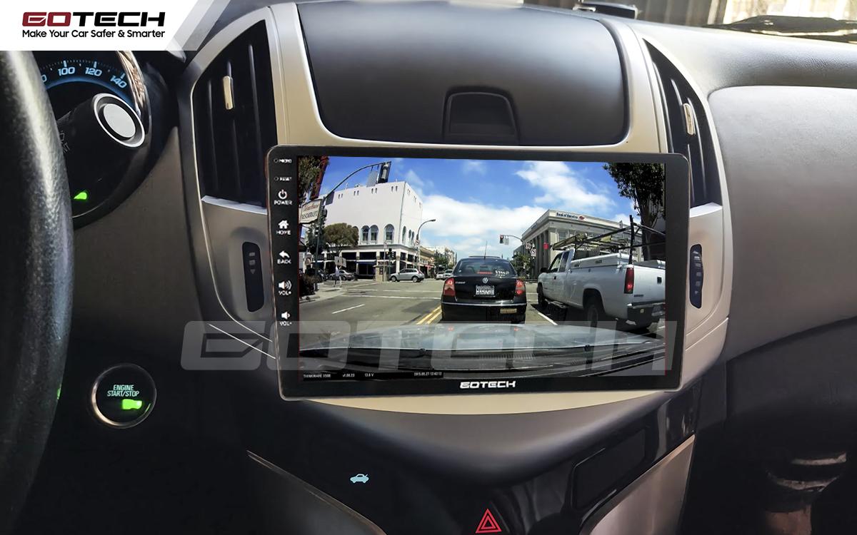 Kết nối với camera hành trình trên màn hình android GOTECH cho xe Chevrolet Cruze 2017-2018