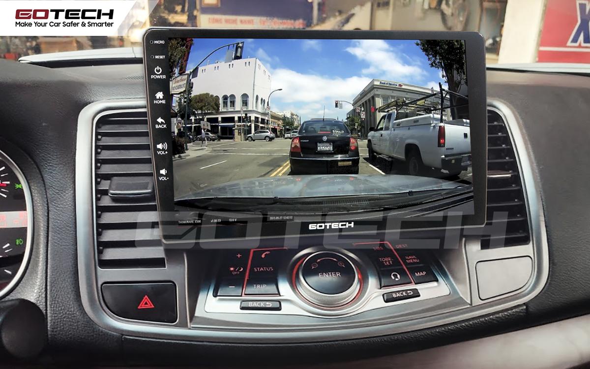 Kết nối với camera hành trình trên màn hình android GOTECH cho xe Nissan Teana 2009-2011