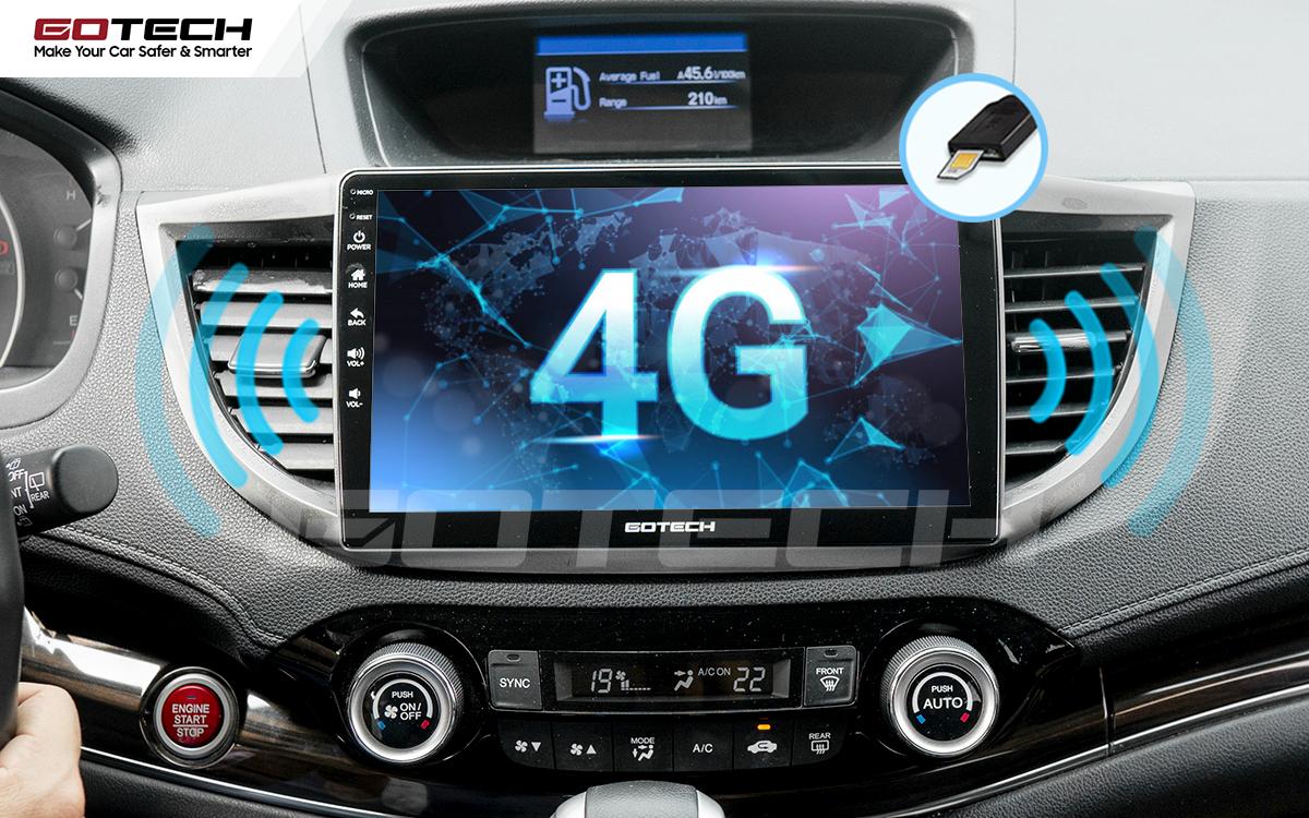 Kết nối internet 4G tốc độ cao ngay trên màn hình ô tô GOTECH