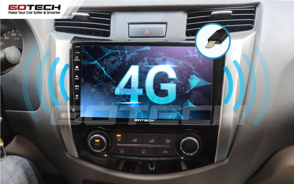 Kết nối sim 4G trên màn hình ô tô GOTECH cho xe Nissan Navara 2015 - 2020