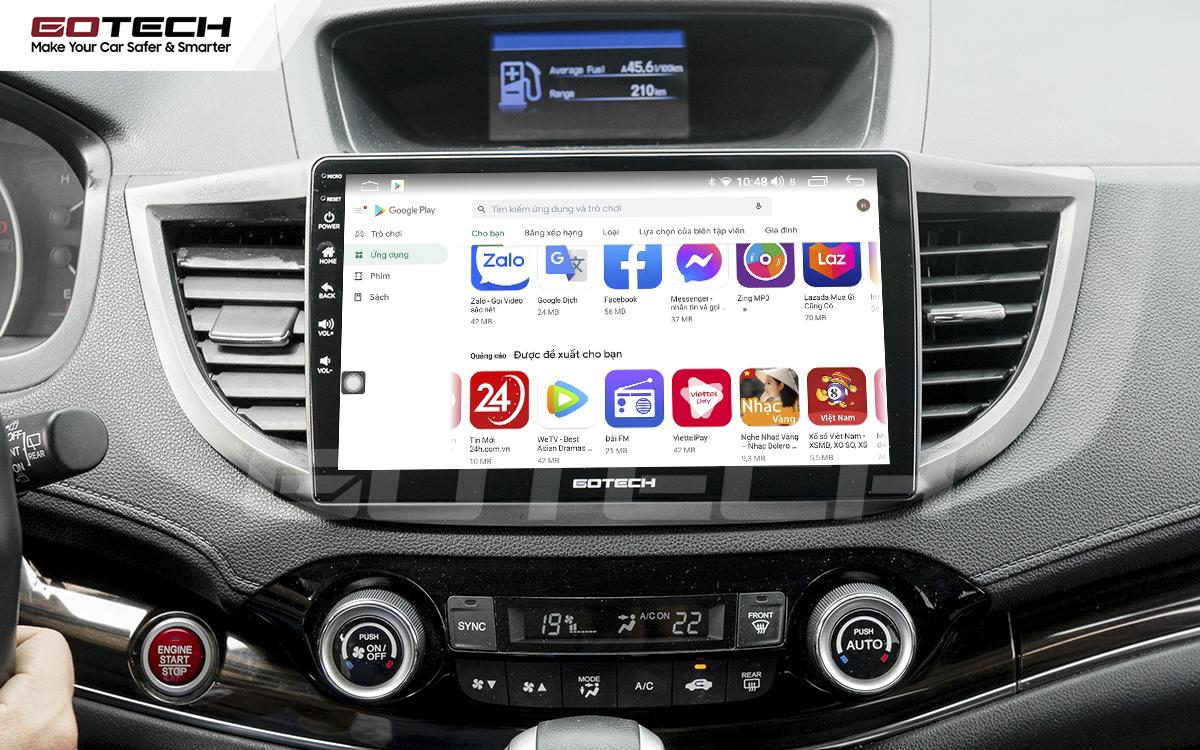 Kho ứng dụng CH Play trên màn hình ô tô thông minh GOTECH