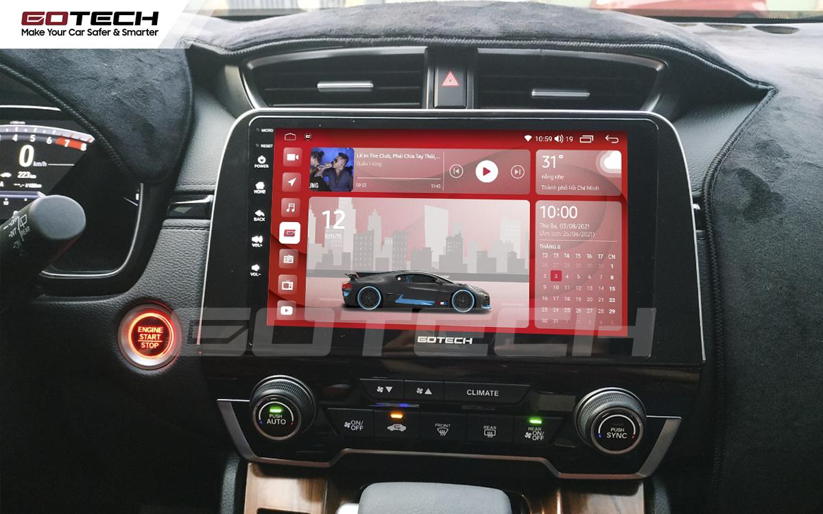 Màn hình ô tô thông minh GOTECH có kích thước lớn, rõ nét giúp nâng cao khả năng quan sát