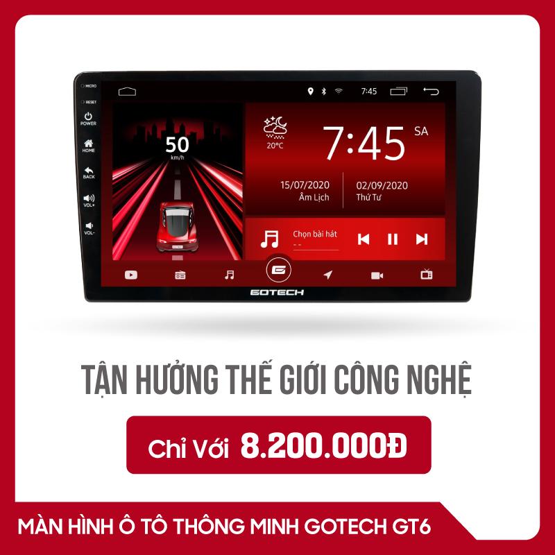 MÀN HÌNH Ô TÔ THÔNG MINH GOTECH GT6
