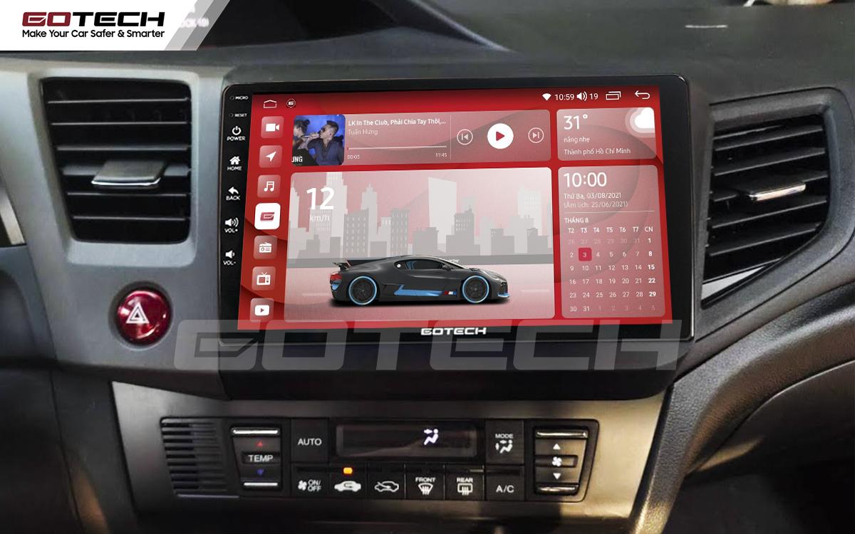 Màn hình rộng 9 inch cho xe Honda Civic 2013-2015