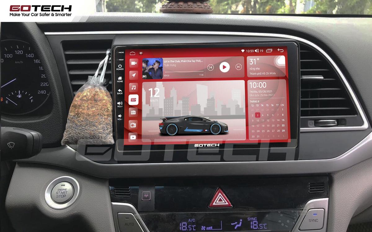 Màn hình rộng 9 inch cho xe Hyundai Elantra 2016-2018