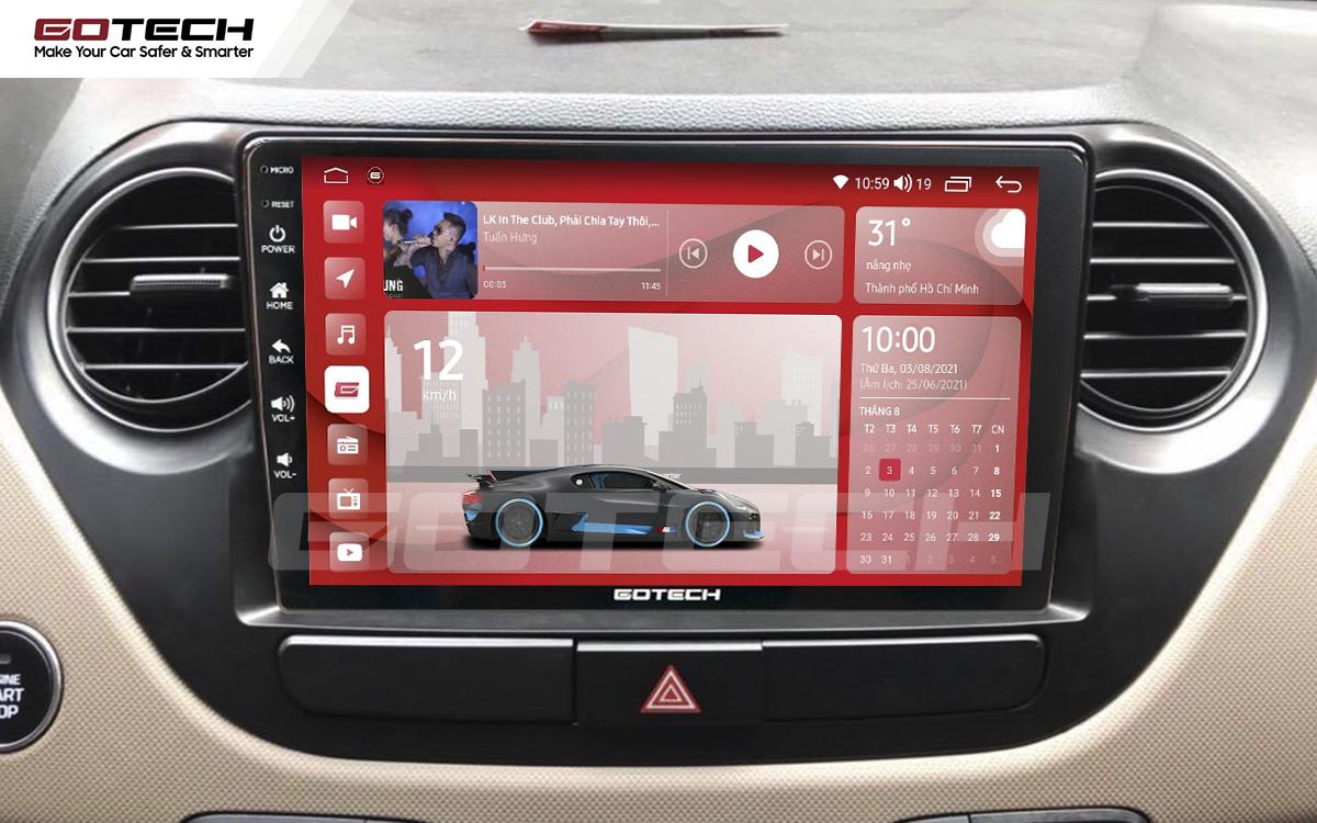 Màn hình rộng 9 inch cho xe Hyundai i10 2014-2019
