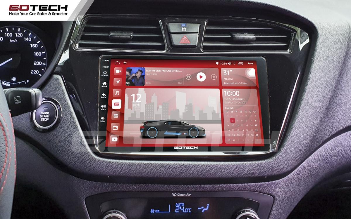Màn hình rộng 9 inch cho xe Hyundai i20 Active 2015-2018