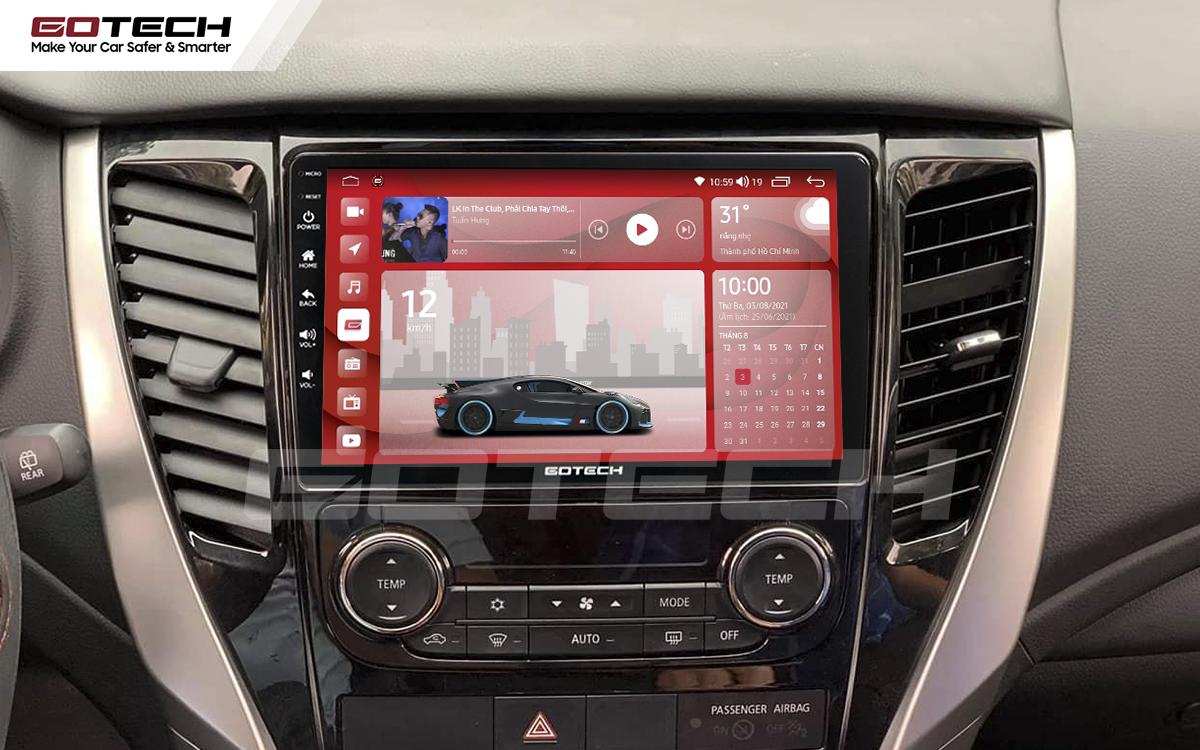 Màn hình rộng 9 inch cho xe Mitsubishi Pajero Sport 2018-2019