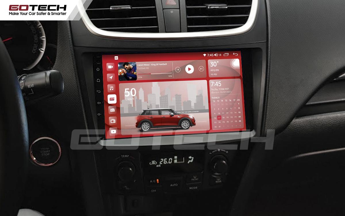 Màn hình rộng 9 inch cho xe Suzuki Swift 2013-2017
