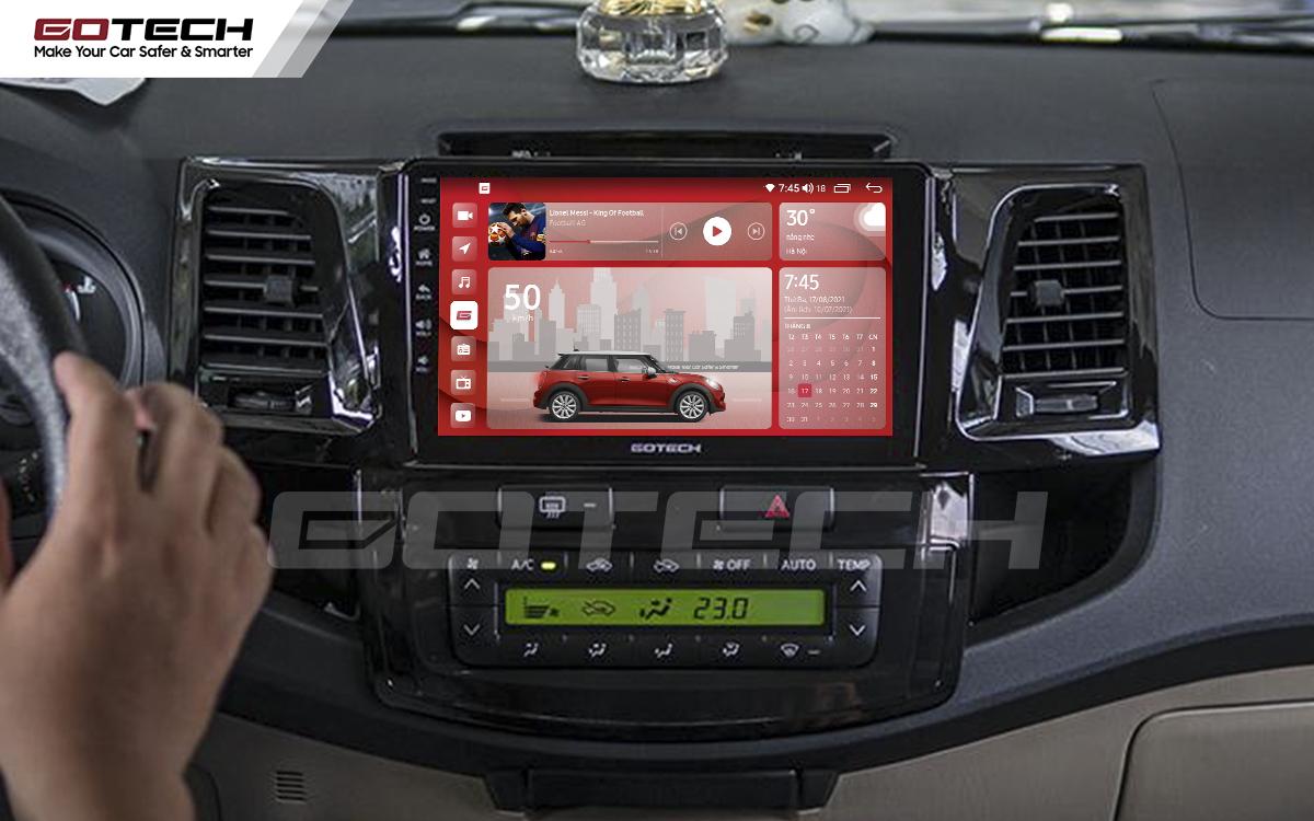 Màn hình rộng 9 inch cho xe Toyota Fortuner 2006-2016