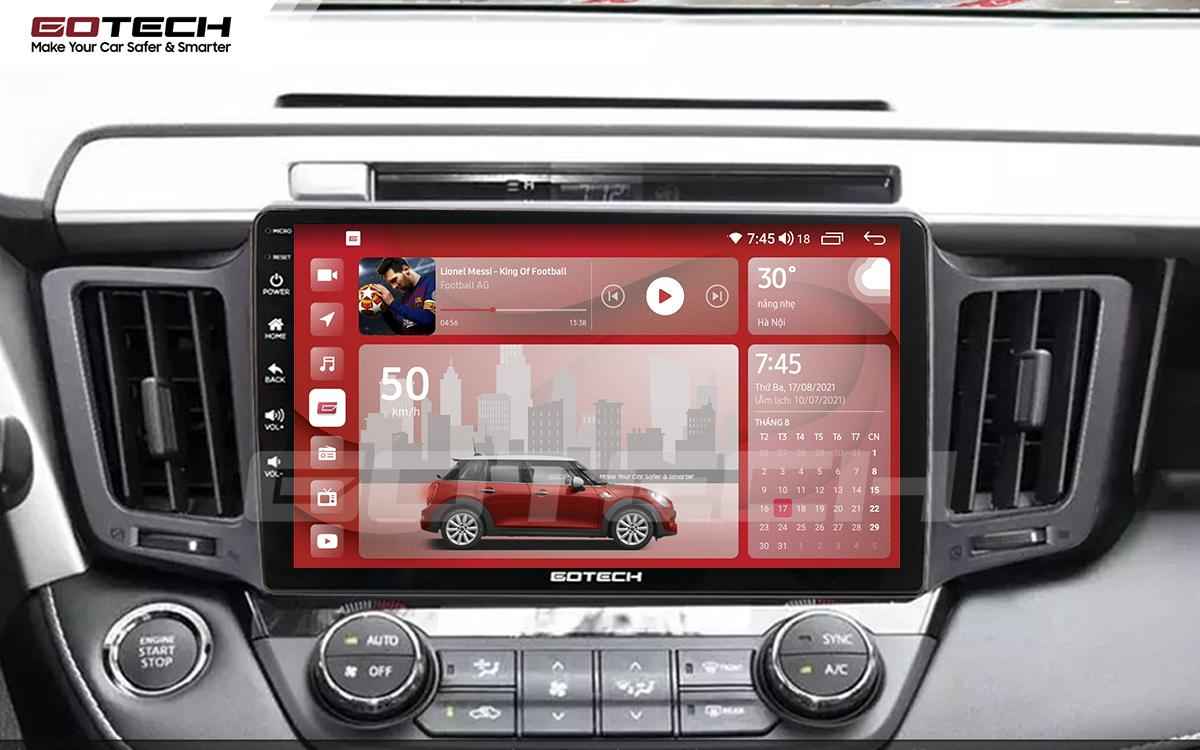 Màn hình rộng 10 inch cho xe Toyota Rav4 2013-2014