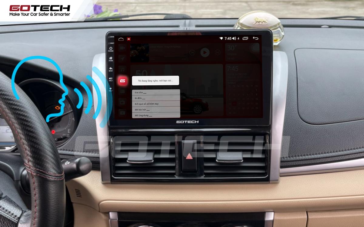 Ra lệnh giọng nói thông minh trên màn hình ô tô GOTECH cho xe Toyota Vios