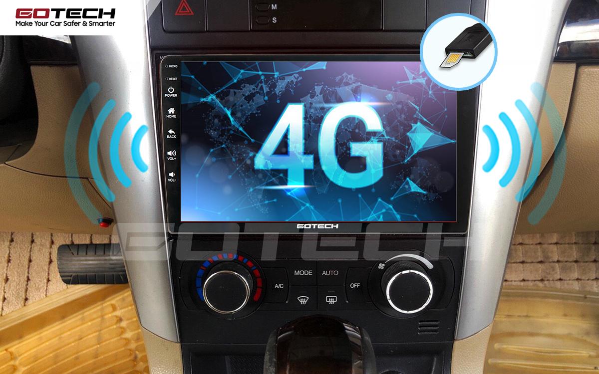 Sim 4G kết nối internet tốc độ cao trên màn hình ô tô GOTECH cho xe Chevrolet Captiva 2013-2015