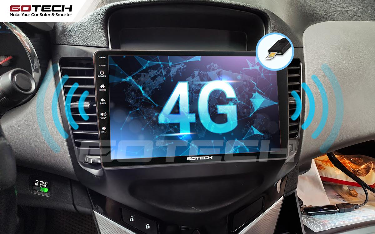 Sim 4G kết nối internet tốc độ cao trên màn hình ô tô GOTECH cho xe Chevrolet Cruze 2009-2015