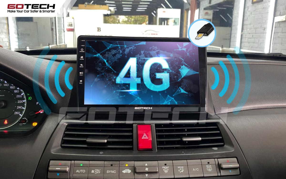 Sim 4G kết nối internet tốc độ cao trên màn hình ô tô GOTECH cho xe Honda Accord 2007-2013