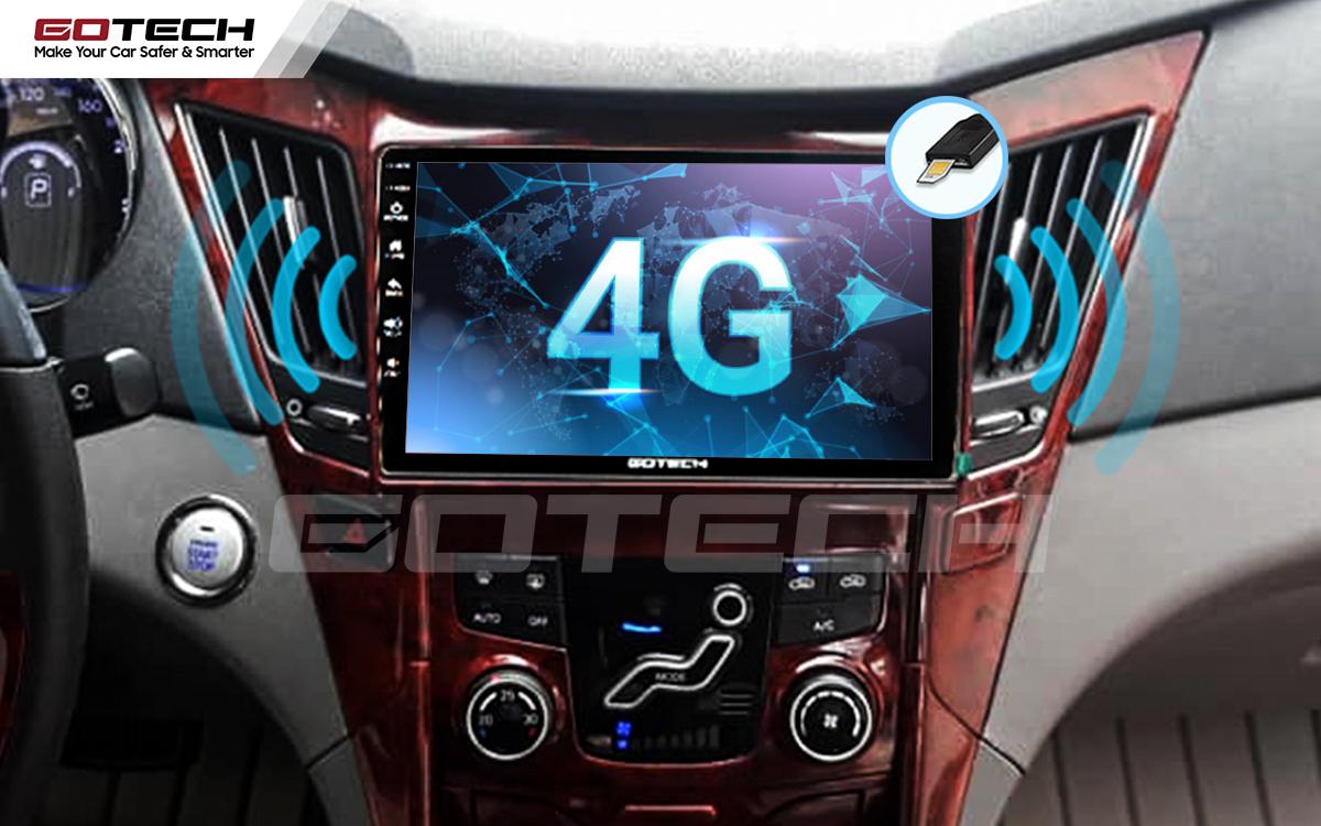 Sim 4G kết nối internet tốc độ cao trên màn hình ô tô GOTECH cho xe Hyundai Sonata 2010-2013