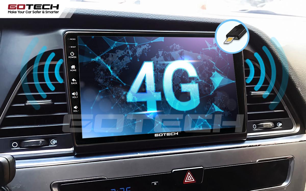 Sim 4G kết nối internet tốc độ cao trên màn hình ô tô GOTECH cho xe Hyundai Sonata 2015-2018