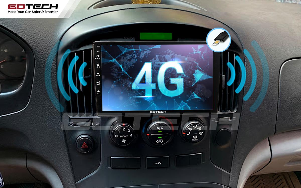 Sim 4G kết nối internet tốc độ cao trên màn hình ô tô GOTECH cho xe Hyundai Starex 2016-2019