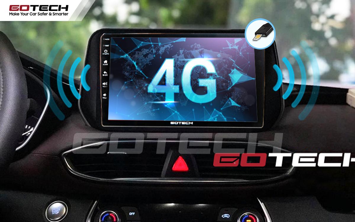 Sim 4G kết nối internet tốc độ cao trên màn hình ô tô GOTECH cho xe Hyundai Tucson 2019-2020