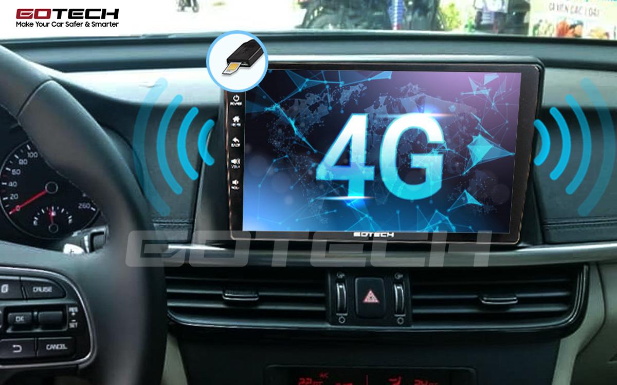 Sim 4G kết nối internet tốc độ cao trên màn hình ô tô GOTECH cho xe Kia K5 Optima 2017-2020