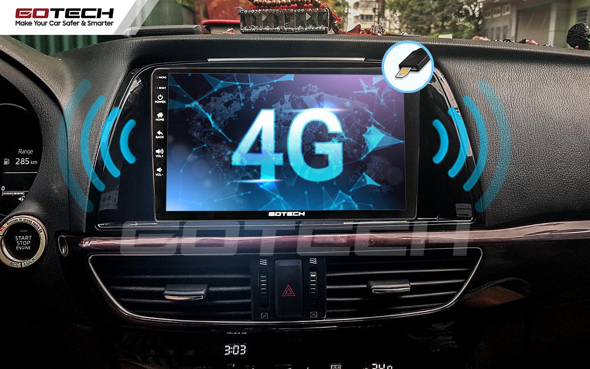 Sim 4G kết nối internet tốc độ cao trên màn hình ô tô GOTECH cho xe Mazda 6 2014-2016