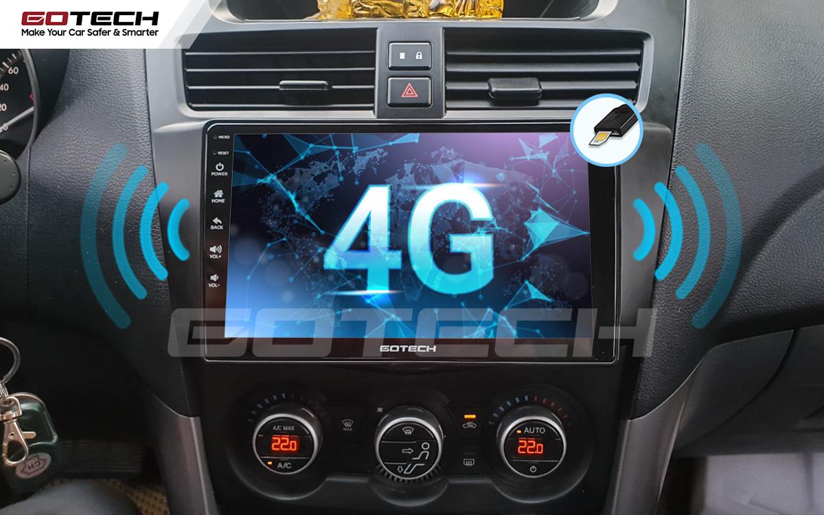 Sim 4G kết nối internet tốc độ cao trên màn hình ô tô GOTECH cho xe Mazda BT50 2012-2018