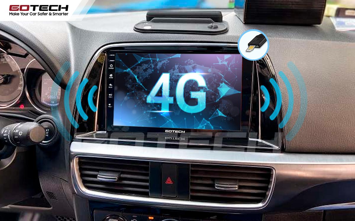 Sim 4G kết nối internet tốc độ cao trên màn hình ô tô GOTECH cho xe Mazda Cx5 2016-2017