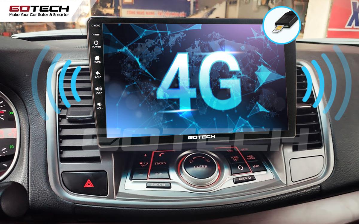 Sim 4G kết nối internet tốc độ cao trên màn hình ô tô GOTECH cho xe Nissan Teana 2009-2011