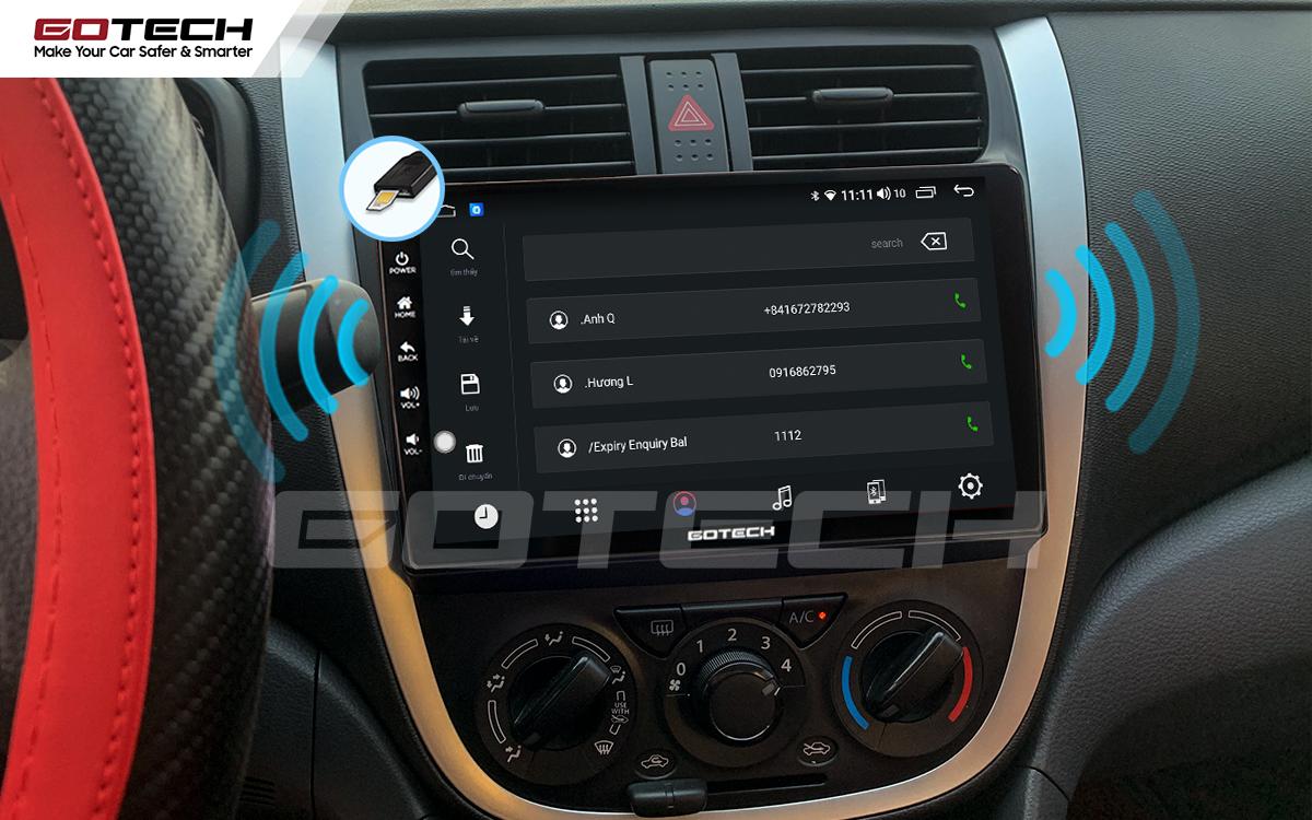 Sim 4G kết nối internet tốc độ cao trên màn hình ô tô GOTECH cho xe Suzuki Celerio 2018-2020