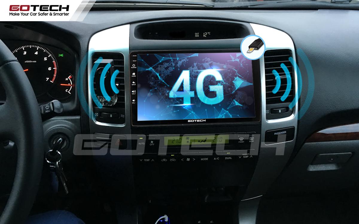 Sim 4G kết nối internet tốc độ cao trên màn hình ô tô GOTECH cho xe Toyota Land Cruiser 2003-2007