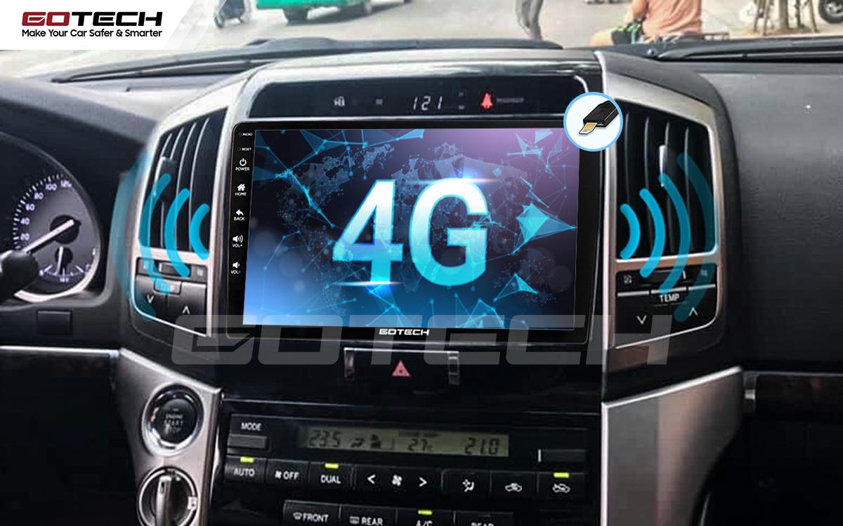 Sim 4G kết nối internet tốc độ cao trên màn hình ô tô GOTECH cho xe Toyota Land Cruiser 2008-2015