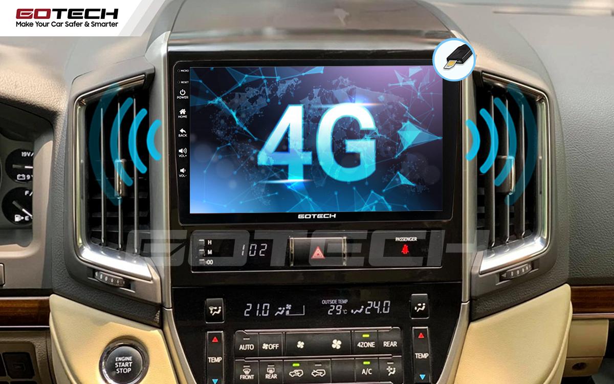Sim 4G kết nối internet tốc độ cao trên màn hình ô tô GOTECH cho xe Toyota Land Cruiser 2016-2019