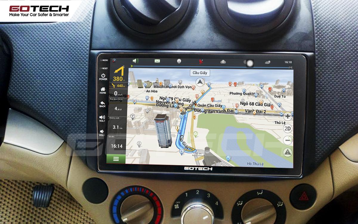 Tích hợp bản đồ dẫn đường thông minh trên màn hình ô tô GOTECH cho xe Chevrolet Aveo 2011-2018